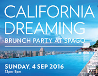 California Dreaming Brunch Party Poster