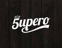 T-shirt graphics for 5UPERO SKATEBOARDING.