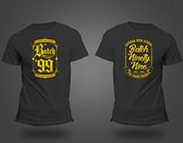 Batch 99 Shirt Design
