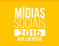 Mídias Sociais - MJR Creperia