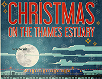 Christmas on the Thames Estuary Poster