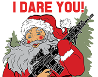 Tactical Christmas Tee Shirt Illustrations