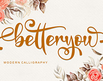 FREE   Betteryou - Modern Calligraphy Font