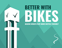 Better with Bikes Poster