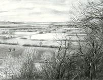 View on Zyfflich from Devil Mountain - 04-04-15 (sold)