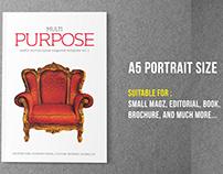 Purpose A5 Portrait Template (V.01)