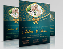 Wedding Party Flyer Template Vol.2