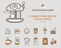 Coffee Shop & Cafe icon set