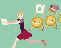 La dura legge dei cookies Illustrazione