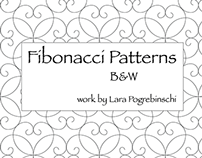 Fibonacci Patterns B&W