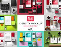 Identity Mockup Top view 4K set