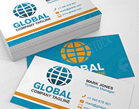 Global Business Card Template (Free PSD Download)