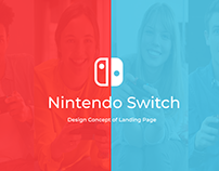 Nintendo Switch. Design Concept of Landing Page