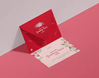 Free Envelope With Greeting Card Mockup