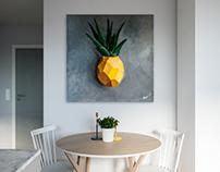 Ananas. Acrylic / canvas