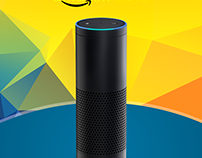 Amazon Echo – Giveaway Poster Design