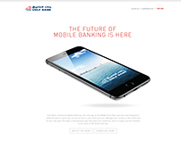 Gulf Bank - Mobile Banking App Web Design
