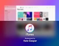 Redesign iTunes - Fluent Design