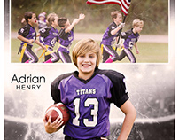 Football sports Memorymates photography template