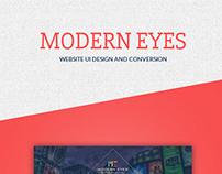 MODERN EYES- Creative Agency Website