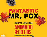 Cartel Fantastic Mr. Fox Autocinema