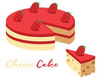 Cheese Cake - Vector