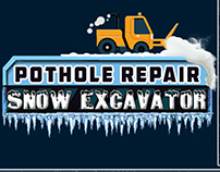 Pothole repair Snow excavator