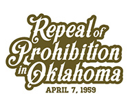 Repeal Prohibition glassware logo