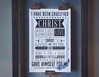 """Galatians 2:20"" - Type Poster"