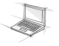 Laptop Computer Technical Drawing