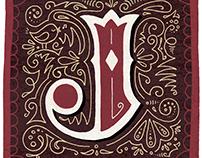 "Illuminated letter ""J"""