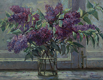 Still lifes with lilacs