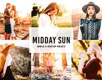 Free Midday Sun Mobile & Desktop Lightroom Presets