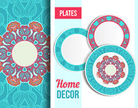 Patterns on plates - part 1, floral