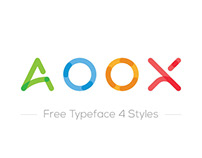 AOOX || Free Typeface 4 Styles