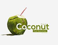 fresh Coconut Digital concept art poster