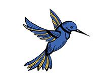 Un pájaro azul