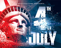 4th Of July Flyer Template - Photoshop Files