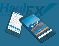 HaulEX Mobile App and Website Concept. Logo, UX/UI