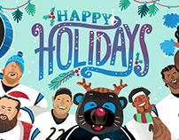 Carolina Panthers Animated Holiday Video