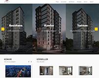Kent Residence website tasarım çalışması.