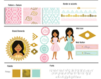 Brand Style Board for Ladyfromsun Designs