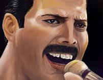Freddie Mercury / digital painting
