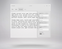 Fluent-inspired concept for Windows 10 Notepad app