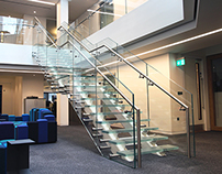 Baker: Bespoke Steel and Glass Staircase, London