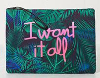 Tropical clutch & backpack