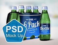 Drink Bottle & 6 Pack Mock Up V.1