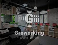 Groworking + Club House   Brand Identity