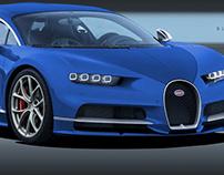 Bugatti Chiron Bleu Centenaire