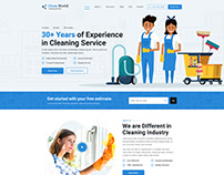 Cleaning company web design